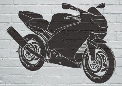 Nálepka Street art, moto