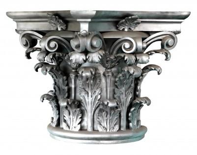 Nálepka Stříbrné korintskými sloupy objednat na bílém pozadí