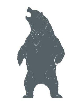 Nálepka Stříkající medvěd silueta