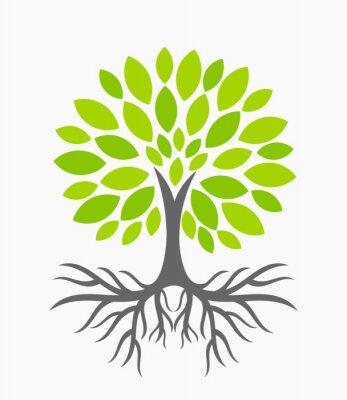 Nálepka Strom s kořeny