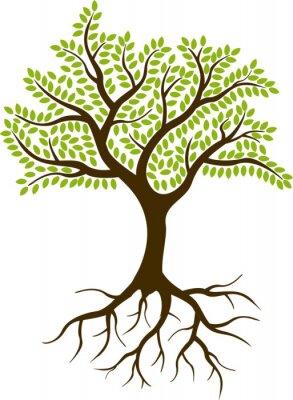 Nálepka strom silueta