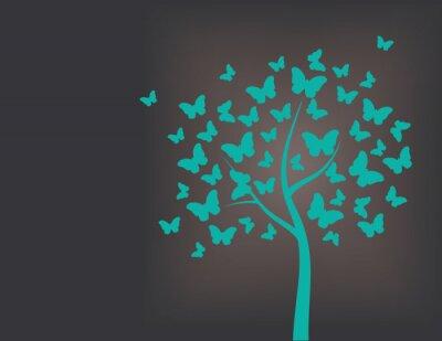 Nálepka Strom z motýlů