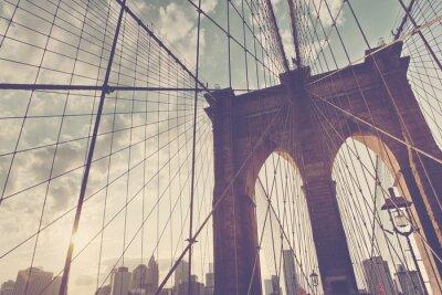 Nálepka Strukturální detail Brooklyn Bridge