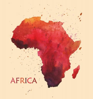 Nálepka Stylizovaná mapa Afriky.