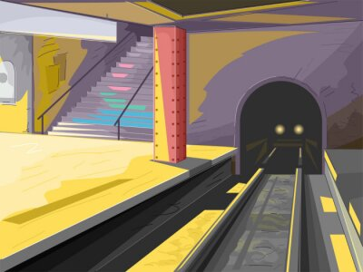 Nálepka Subway Scene