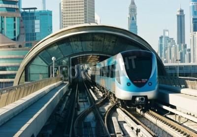 Nálepka subway tracks in the united arab emirates