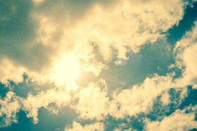 Nálepka Sun prolomení mraky