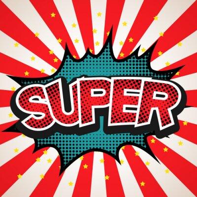 Nálepka Super speech bubble background