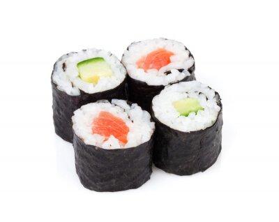 Nálepka Sushi maki s lososem a okurkou sady