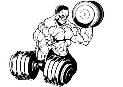 Nálepka svalová kulturista cvičení