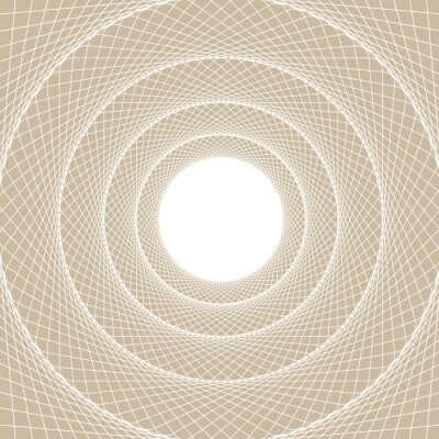 Nálepka Světlo web trubice, je zaměřený pohled zevnitř webové tunelu, s bílým otevřeným jádrem