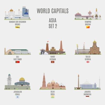 Nálepka světových metropolích