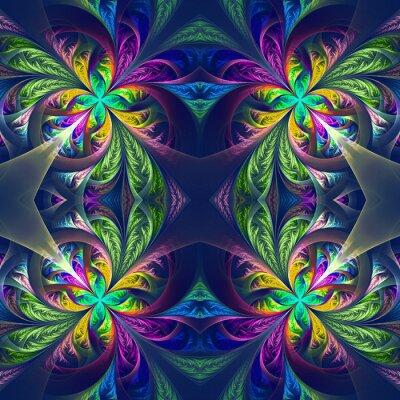 Nálepka Symetrické vícebarevný fraktální kružby. Collection - mrazivé Patt
