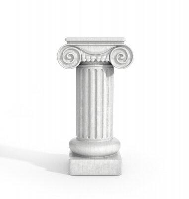 Nálepka Tall Doric pilíř sloupců izolovaných na bílém pozadí. Podstavec.