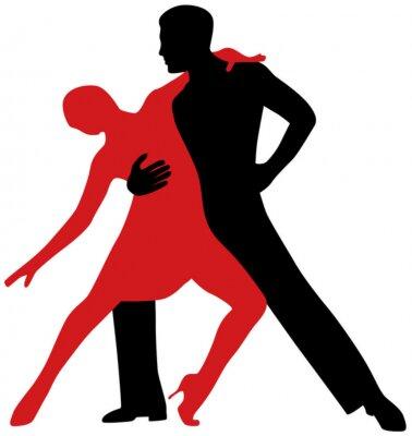 Nálepka Tanečníci Tango
