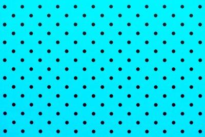 Nálepka tapeta vzor černé tečky v tyrkysové barvě pozadí