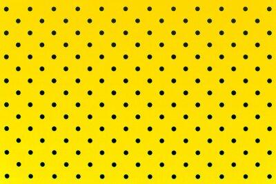 Nálepka tapeta vzor černé tečky ve žluté barvě pozadí