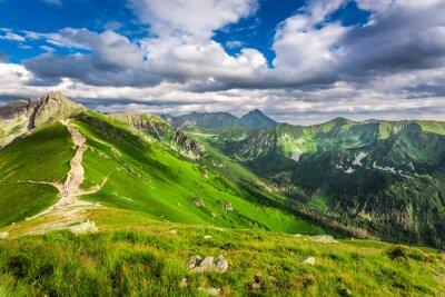 Nálepka Tater vrcholy v slunečný den