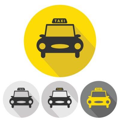 Nálepka taxi car flat icons set