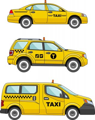 Nálepka Taxi car on a white background in a flat style