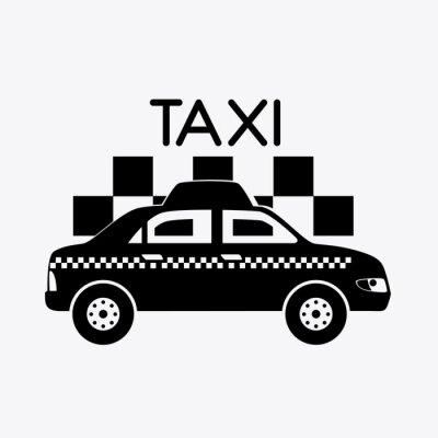 Nálepka Taxi design.