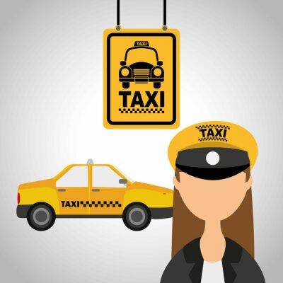 Nálepka taxi služba