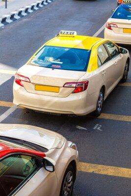 Nálepka Taxi v Dubaji