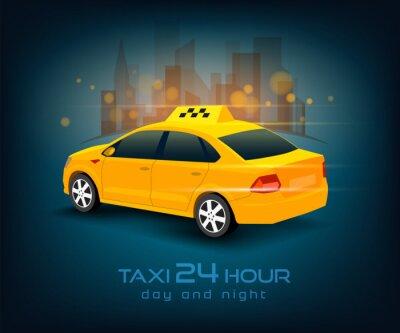 Nálepka taxi vůz