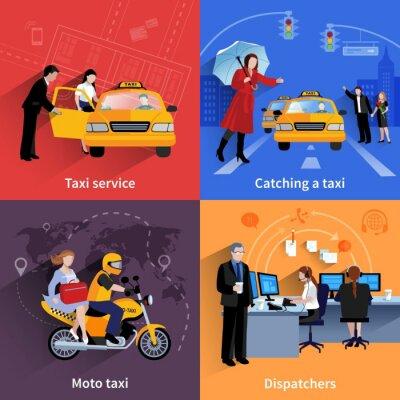 Nálepka Taxislužba 2x2 Bannery Set