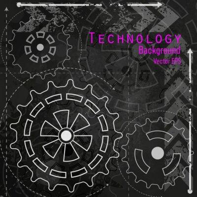 Nálepka Technologické zázemí na křídu palubě.