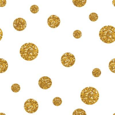 Nálepka Tečky bezproblémové vzorek s zlaté třpytky texturou.