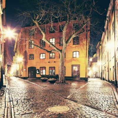 Nálepka Ten malý čtverec někde v Gamla Stan, Stockholm.