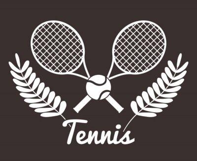 Nálepka Tenis ve sportovním provedení