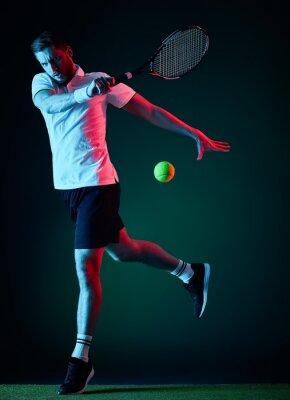 Nálepka tenista muž izolovaných