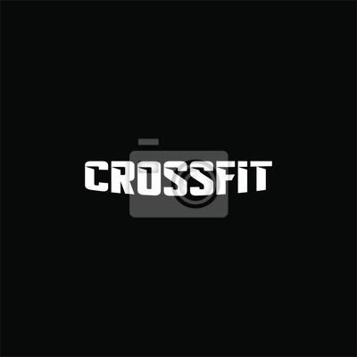 Nálepka Text crossfit logotype template isolated on black background