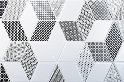 Nálepka textura klasické dlaždice, abstraktní vzor