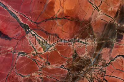 Nálepka Texture červený jaspis, detailní. Přírodní minerál