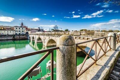Nálepka Tiberius most v Rimini