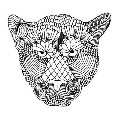 Nálepka Tiger hlava