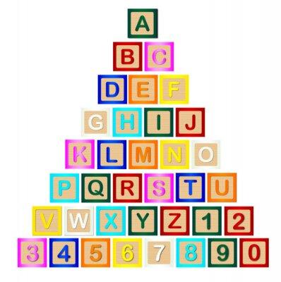 Nálepka Tiskací písmeno Pyramid