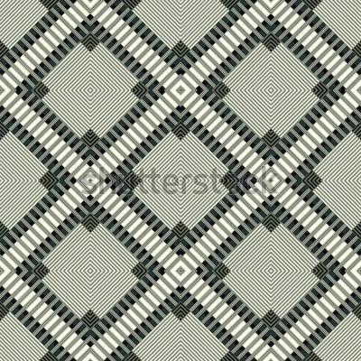 Nálepka tmavé čáry a mnohoúhelníky geometrické pozadí vzor bezešvé ilustrace