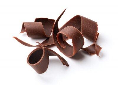 Nálepka tmavé čokoládové kudrlinky