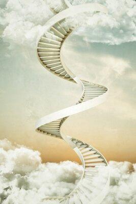 Nálepka točité schodiště