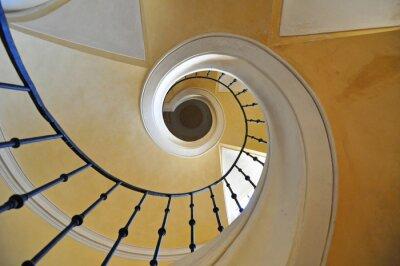 Nálepka točité schodiště architektonický prvek historické budovy