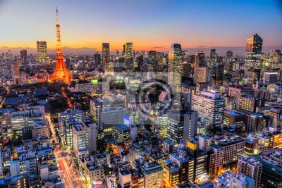 Nálepka Tokio, Japonsko.