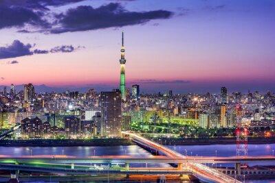 Nálepka Tokio, Japonsko Skyline
