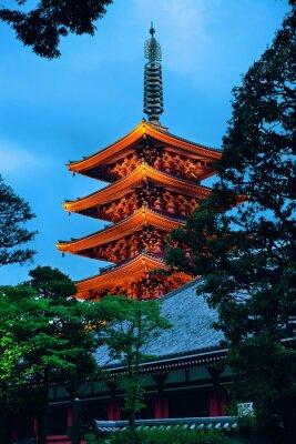 Nálepka Tokyo chrám