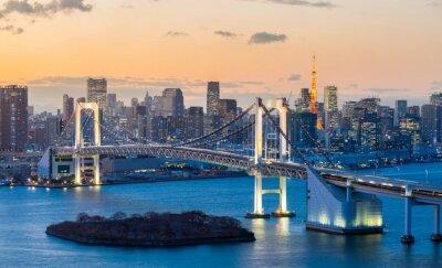 Nálepka Tokyo Tower Duhový most