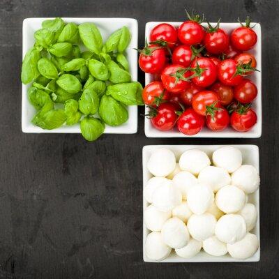 Nálepka Tomato Mozzarella Basil
