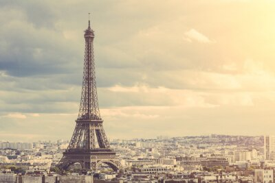 Nálepka Tour Eiffel v Paříži